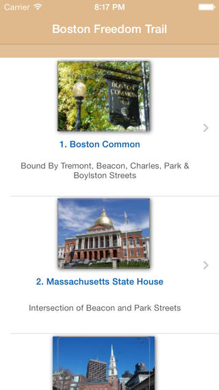 【免費書籍App】Freedom Trail - Boston-APP點子