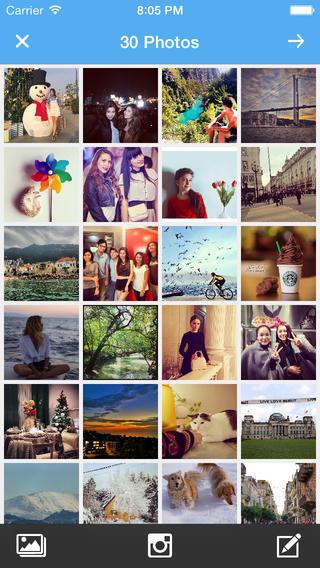 Instaflip - 使用系统相册或你的Instagram图片创建有趣的幻灯片视频