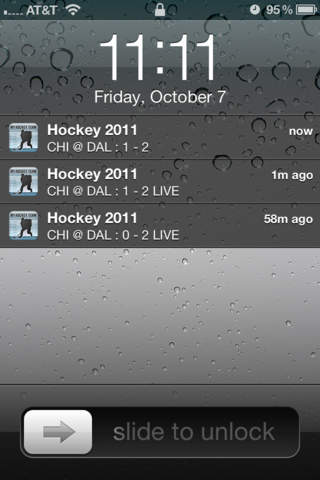 NHL Schedule 2009/10 iPhone Screenshot 2