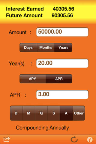 MyInterest 4 Compound Interest Calculator