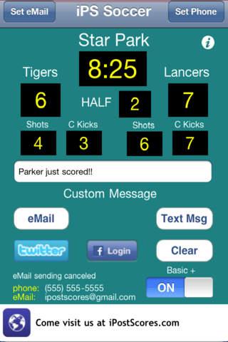iPS Soccer Scoreboard