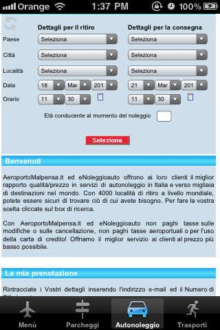 Aeroporto Malpensa Travel App iPhone Screenshot 2