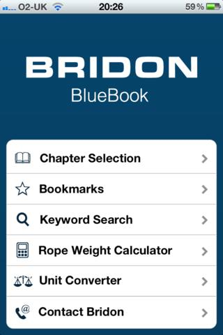 Bridon Blue Book