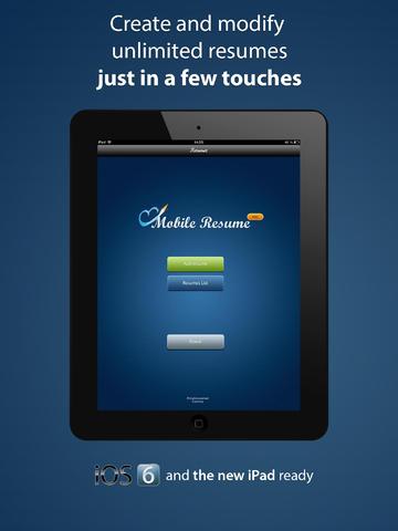 Pocket Mobile Resume PRO