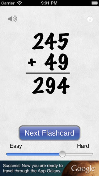 Awesome Flashcard Addition FREE iPhone Screenshot 4