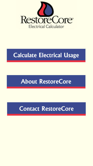 RestoreCore Electrical Calculator App