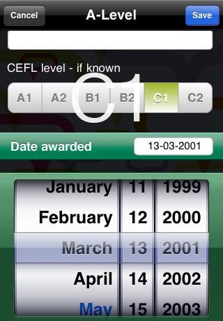 Europass iPhone Screenshot 3