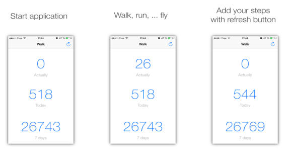 WalkingStep7 - Pedometer for iPhone 5S and M7 processor