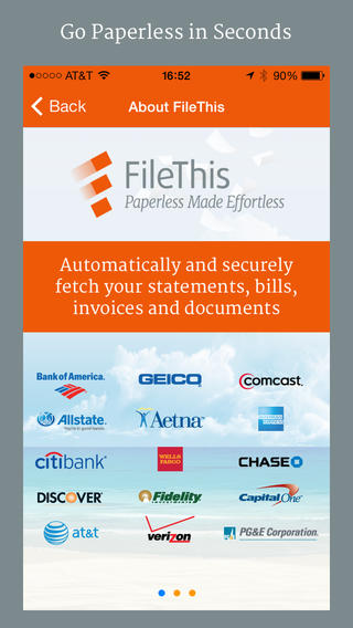 FileThis – Your Bills Bank Statements and Tax Files Organized in One Place