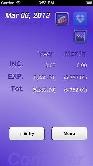 ContaFer easy accounting for iPhone
