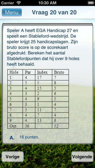 Golf Examen iPhone Screenshot 4