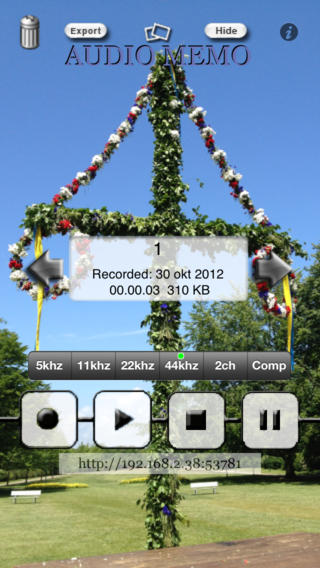 AudioMemo personal recorder iPhone Screenshot 2