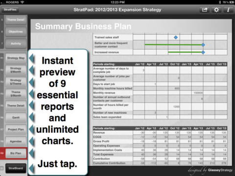 StratPad Platinum: Business Planning and Business Intelligence Strategy App