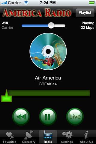 America Radio iPhone Screenshot 2