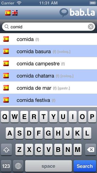 Diccionario Inglés Español