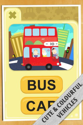 Vehicle Word Match iPhone Screenshot 3