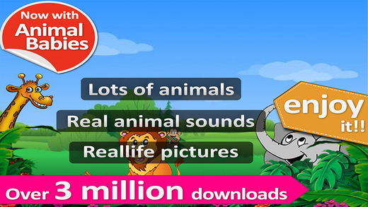 Animal sounds and pictures hear jungle sound in Kids zoo with real images and sound