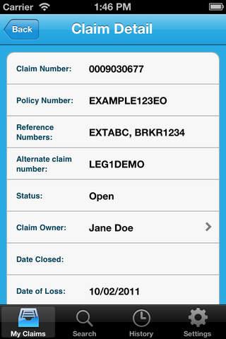 XL GlobalClaim Customer Portal Mobile