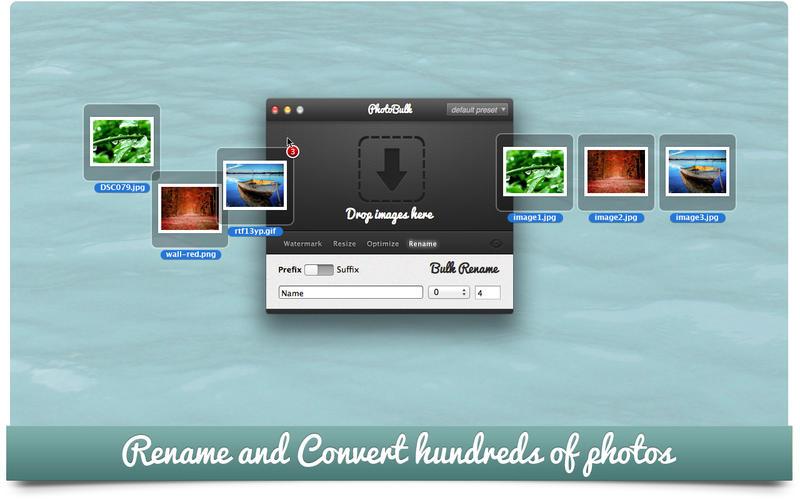 PhotoBulk: Watermark, Resize, Optimize and Rename Screenshot