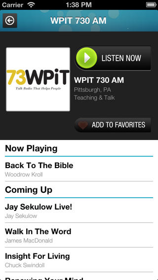 Christian Radio  iPhone Screenshot 2