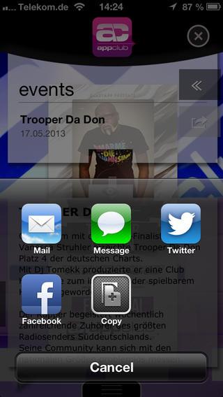 appclub iPhone Screenshot 5