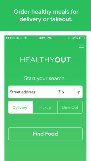 HealthyOut - Free Restaurant Nutrition Guide and Healthy Food Delivery with dishes by diets like Low