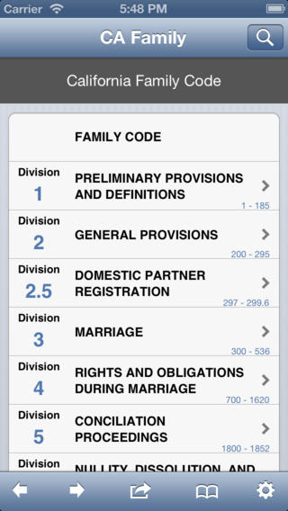 CA Family Code California Law Code Statutes