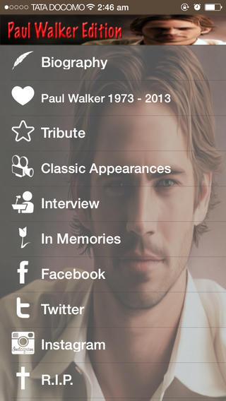 GreatApp - Paul Walker Edition