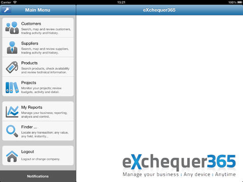 eXchequer365 for iPad