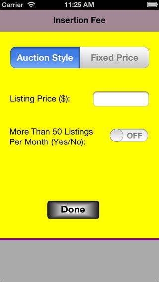 Seller Fee Calculator - Ebay Edition