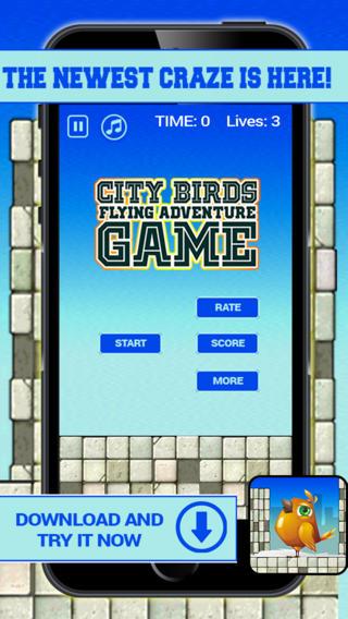 City Birds Flying Adventure Game PRO - Tap Tap Traffic Mania