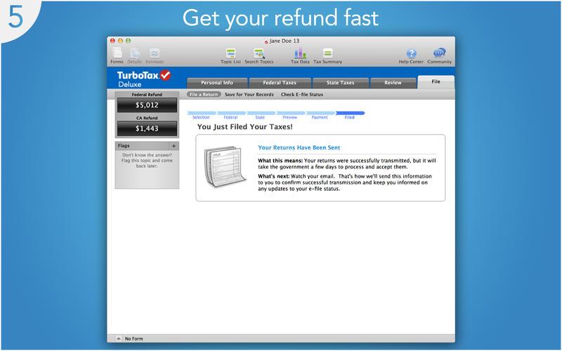 TurboTax 2013 Screenshot - 5