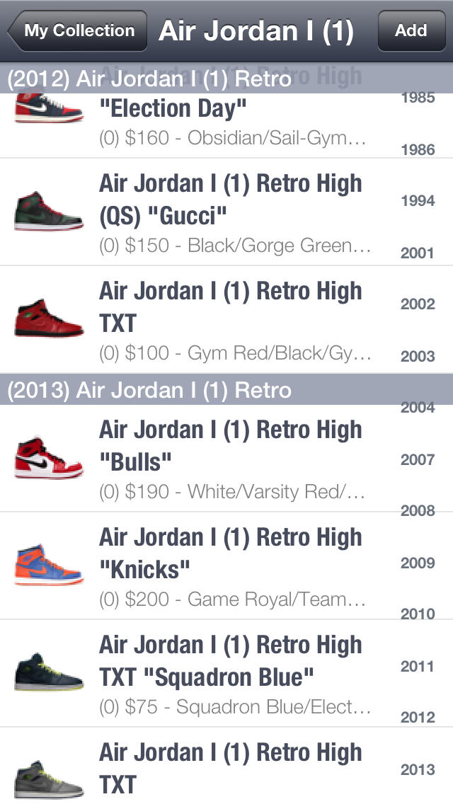 SPG: Price Guide for Jordan (Release Dates & History included)  Screenshot