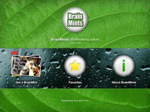 BrainMints iPad Screenshot 1
