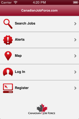 Screenshot of CanadianJobForce.com: Search Jobs & Find a Career in Canada