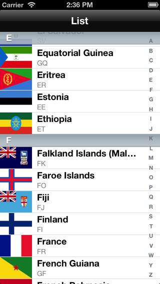 Flag list