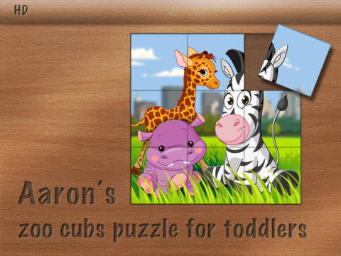 Aaron's zoo cubs puzzle for toddlers