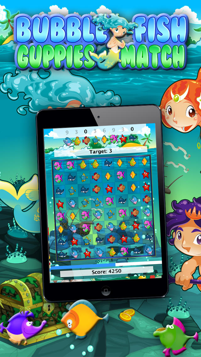 App shopper bubble fish pro guppies and friends match for Bubble fish game