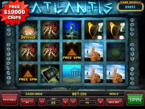 Atlantis HD Slot Machine - $10000 FREE Chips screenshot 1