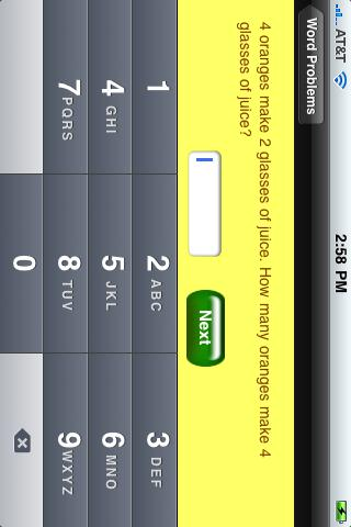 MathWordProblems iPhone Screenshot 3