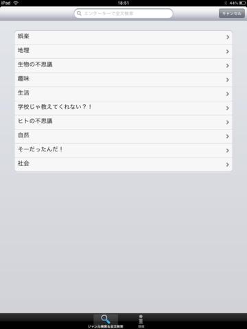 雑学大全SELECT100 for iPad