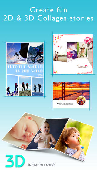 InstaCollage 2 - 3D 2D Photo Collage Maker Picture Frame Editor