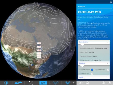 Eutelsat Satellite Coverage Zones