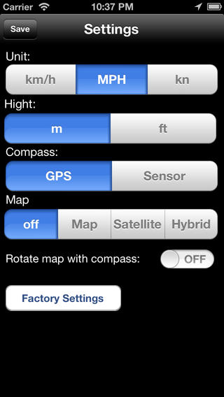 GPS Cyclometer iPhone Screenshot 4