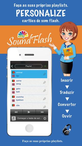 Editor de playlists em norueguês português SoundFlash. Faça as suas próprias playlists e aprenda uma