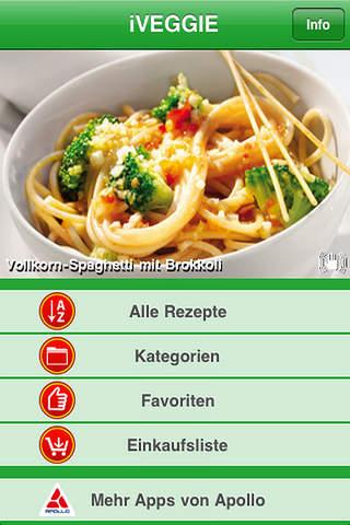 iVEGGIE – Vegetarian Cooking iPhone Screenshot 1