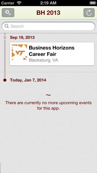 The Official Virginia Tech Business Horizons Career Fair Mobile App