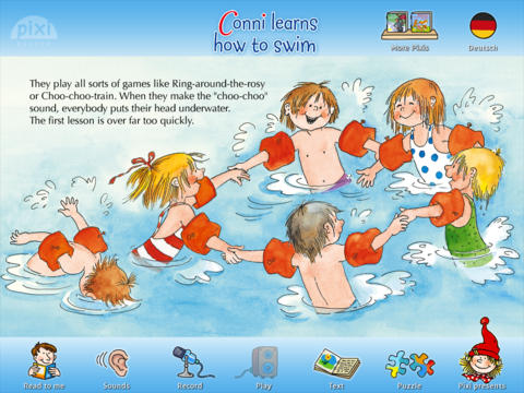"Pixie Book ""Connie Learns How to Swim"""
