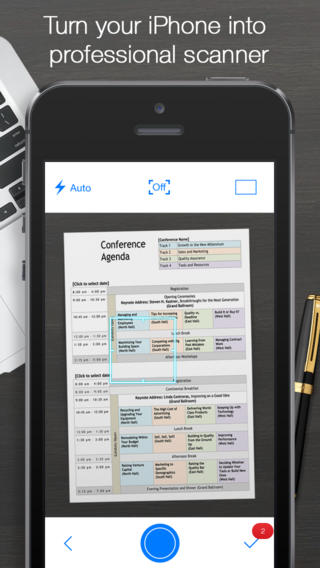 iScanner - quickly scan multipage documents receipts notes into high-quality PDFs. Send via email or