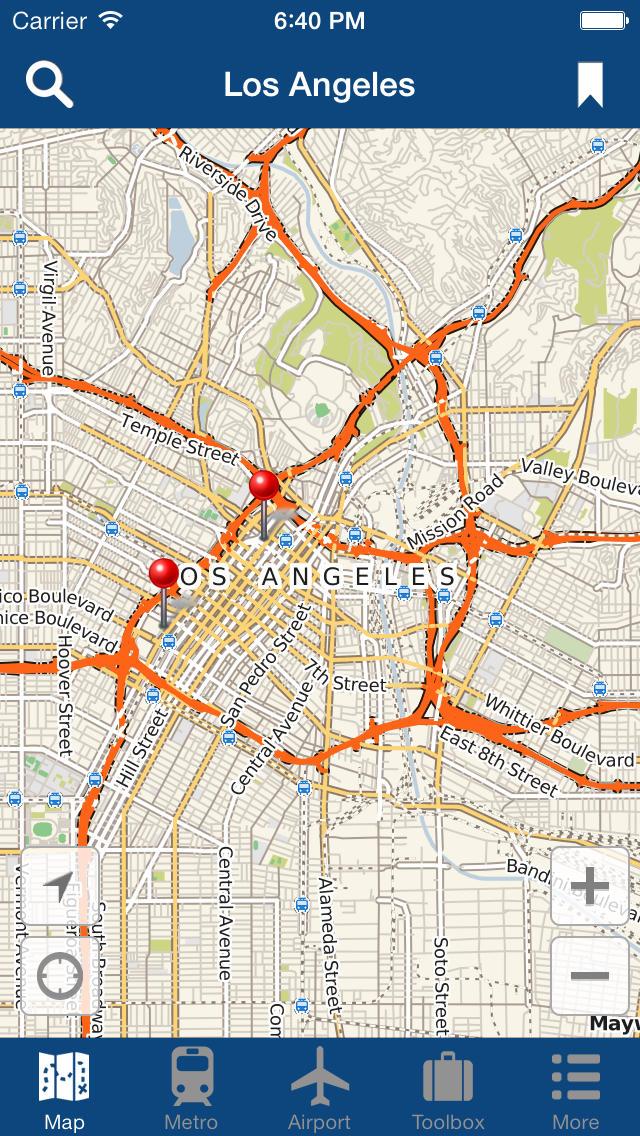 洛杉矶离线地图 - 城市